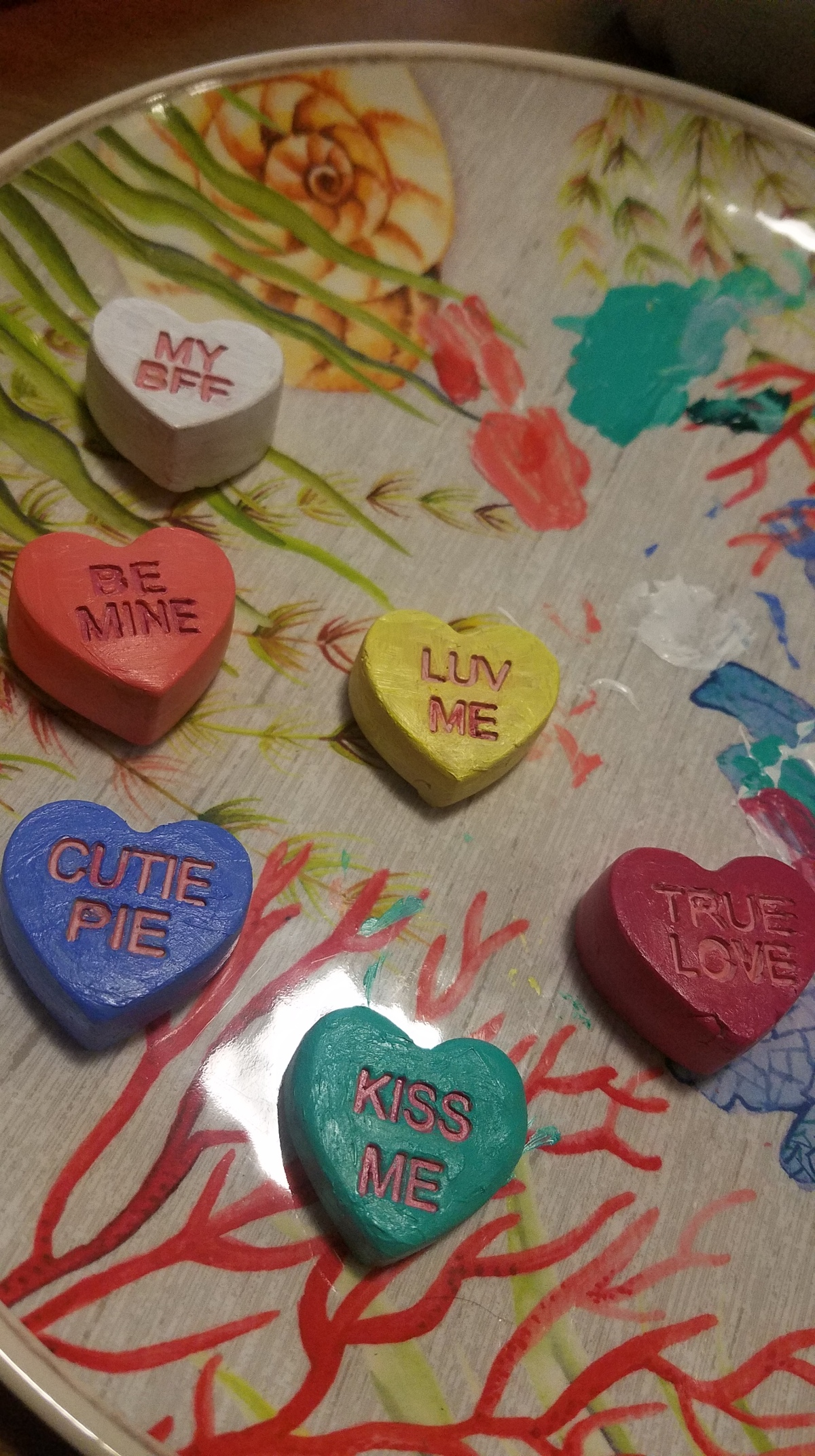 Heart Candy Magnets For Valentines Day Viviendo The Good Life